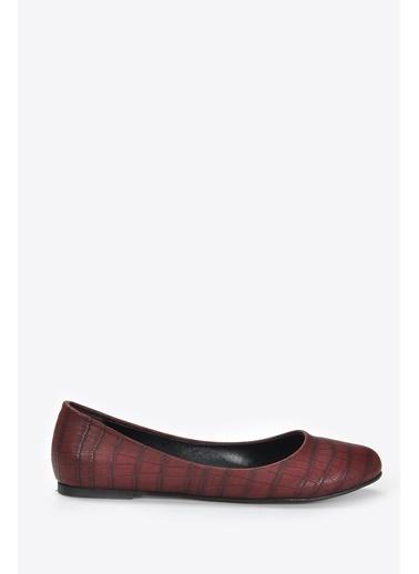 Vizon Ayakkabı Babet Bordo